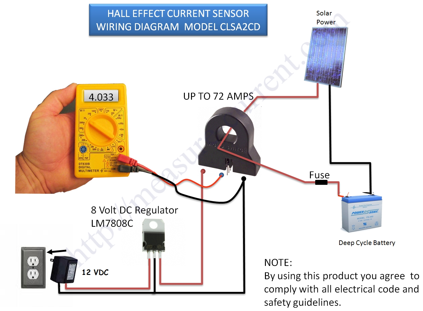 how to measure current and power using a hall effect transducer clsa2cd honeywell current sensor hall effect transducer